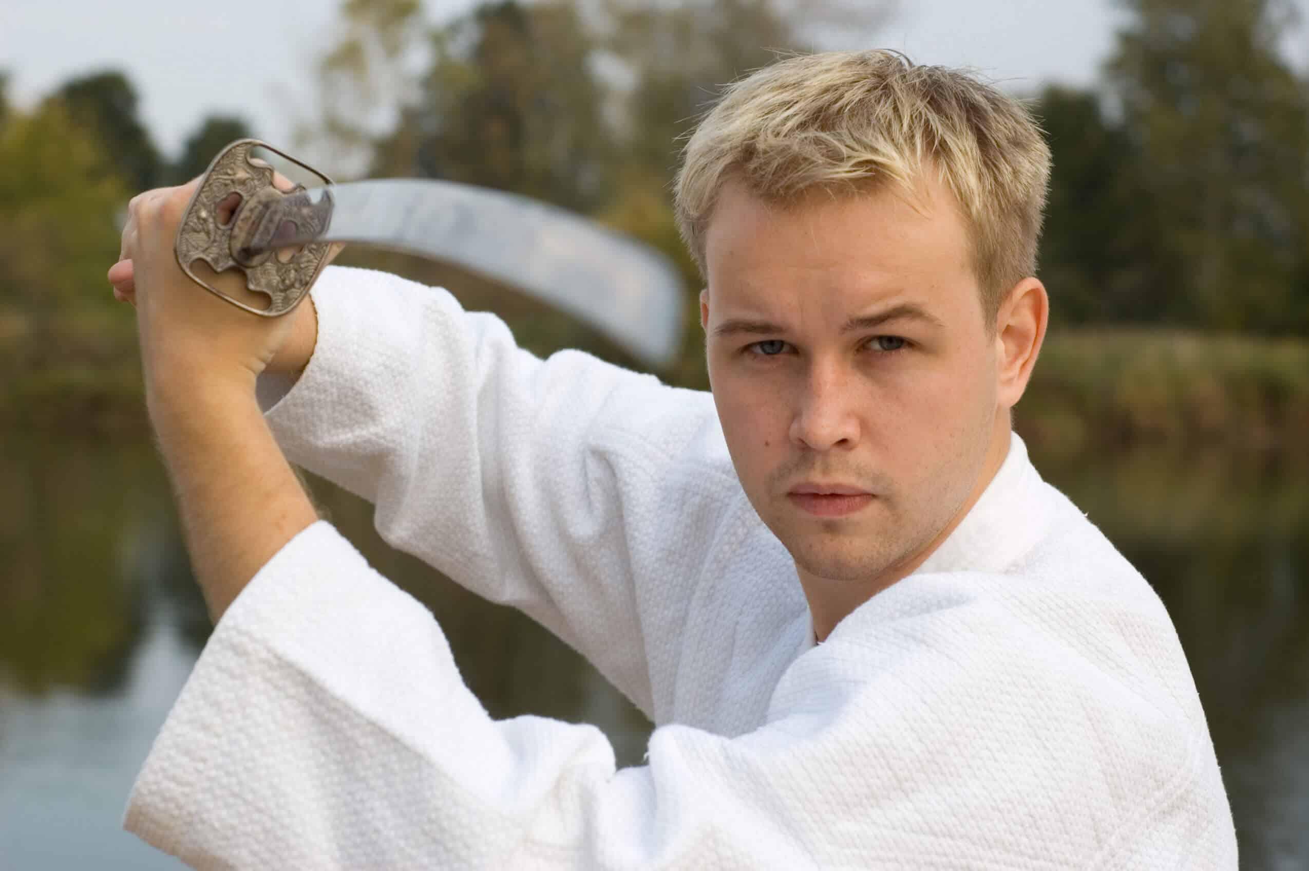 Martial Arts Lessons for Adults in Vista CA - Samurai Sword Posing Blog