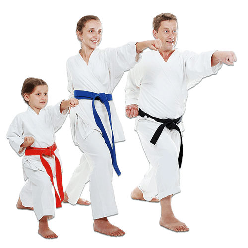 Martial Arts Lessons for Families in Vista CA - Man and Daughters Family Punching Together