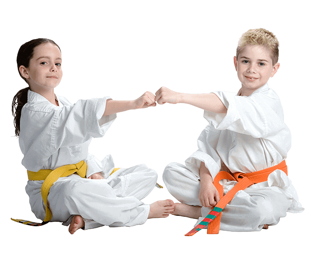 Martial Arts Lessons for Kids in Vista CA - Kids Greeting Happy Footer Banner