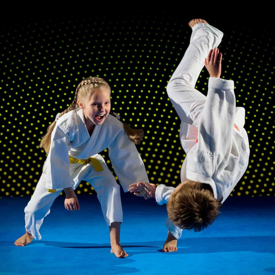 Martial Arts Lessons for Kids in Vista CA - Judo Toss Kids Girl