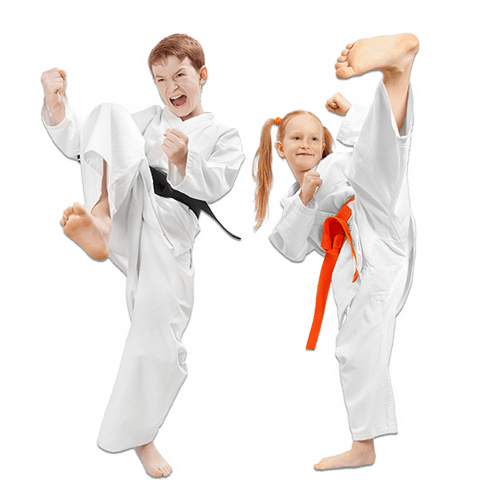 Martial Arts Lessons for Kids in Vista CA - Kicks High Kicking Together